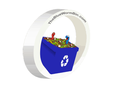 The Blue Worm Bin